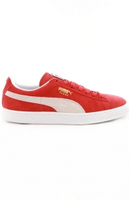 Suede Classic Shoe - High Risk Red/White
