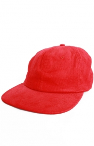 Rare Panther Corduroy Snap-Back Hat - Red