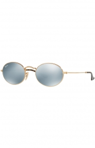(001/30) Oval Sunglasses - Gold/Mirror Oval
