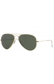 (W3234) Aviator Large Metal Sunglasses - Gold