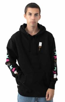 Beautiful Mountain Pullover Hoodie - Black