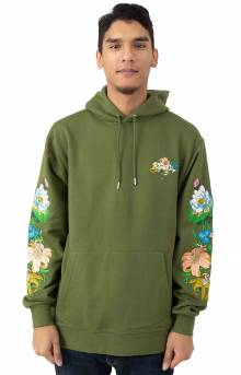 Blooming Nerm Pullover Hoodie - Olive Green