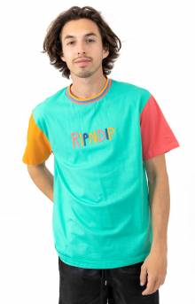 Color Block Multi Panel T-Shirt - Multi