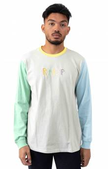 Embroidered Logo L/S Shirt - Multi