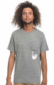 Falling For Nermal Pocket T-Shirt - H.Grey