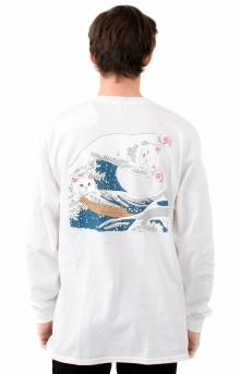 Great Wave L/S Shirt - White