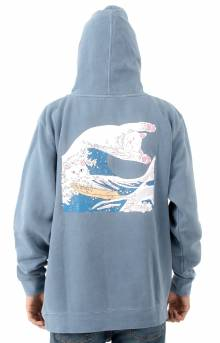 Great Wave Of Nerm Pullover Hoodie - Baby Blue