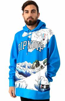 Great Wave Pullover Hoodie - Blue