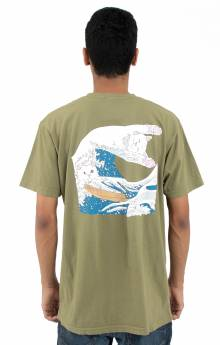 Great Wave T-Shirt - Olive