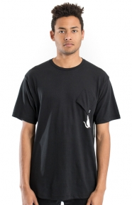Hang In There Nermal Pocket T-Shirt - Black