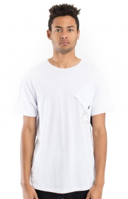 Hang In There Nermal Pocket T-Shirt - White