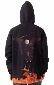 Hell Pit Hooded Coach Jacket - Black
