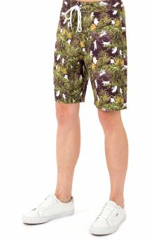 Jungle Nerm Swim Shorts - Black