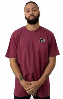 Lord Jermal Pocket T-Shirt - Wine