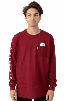 Lord Nermal Pocket L/S Shirt - Burgundy