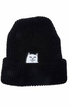 Lord Nermal Ribbed Beanie - Black