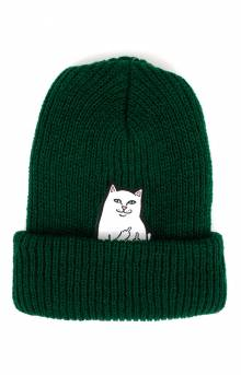 Lord Nermal Ribbed Beanie - Forest (Hunter Green)