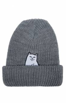 Lord Nermal Ribbed Beanie - Grey