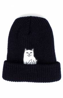 Lord Nermal Ribbed Beanie - Navy