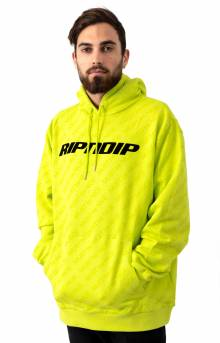 MBN Stripe Pullover Hoodie - Neon