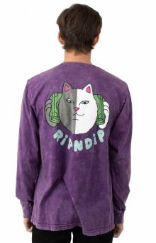Money Talks L/S Shirt - Purple Mineral Wash