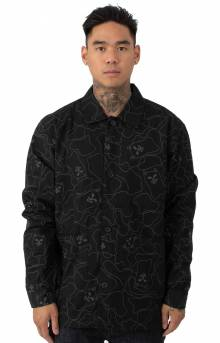 Nermal Line Camo Military Jacket - Black