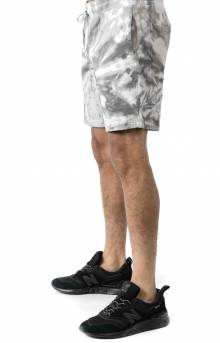 Peeking Nerm Sweat Shorts - Black Spiral Tie-Dye