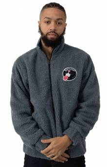 RIPNDIP, Pill Reversible Sherpa Varsity Jacket - Solid Grey