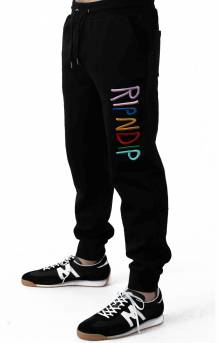 RIPNDIP Multi Color Logo Sweatpant - Black