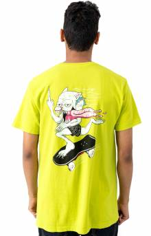 Skate Nerm T-Shirt - Safety Green