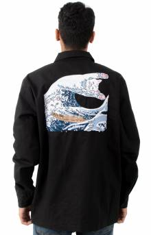 The Great Wave Military Jacket - Black