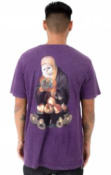 World On Fire T-Shirt - Purple Mineral Wash