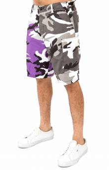 (1820) Rothco Two-Tone BDU Shorts - Violet Camo