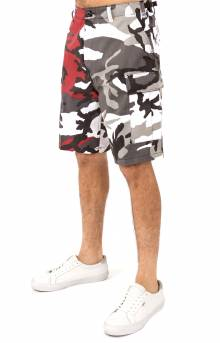 (1825) Rothco Two-Tone BDU Shorts - Red Camo