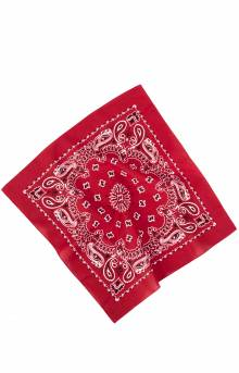(4142) Trainmen Paisley Bandana - Red/White