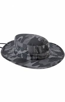 (52561) Adjustable Boonie Hat - Black Camo