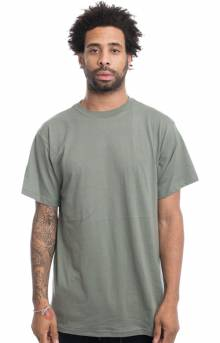(6370) Solid Color 100% Cotton T-Shirt - Foliage Green
