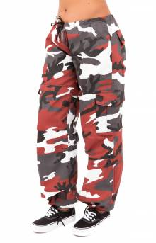(3782) Paratrooper Colored Camo Fatigues - Red Camo
