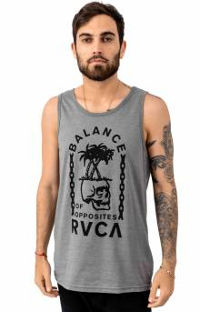 Bad Palms Tank Top - Grey Noise
