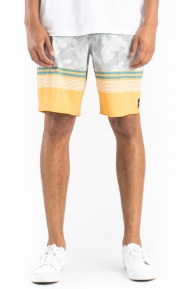 Bonsai Stripe Boardshorts - Golden Glow