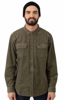 Campbell Corduroy Button-Up Shirt - Olive