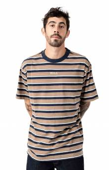 Curtis Striped Knit T-Shirt - Dust Yellow