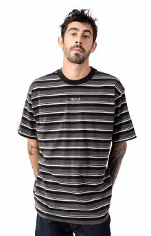 Curtis Striped Knit T-Shirt - Pirate Black