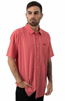 Haciendo Stripe Button-Up Shirt - Dusty Rose