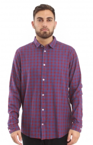 Hayes Flannel Button-Up Shirt - Pompei Red