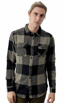 Haywire Button-Up Flannel Shirt - Olive