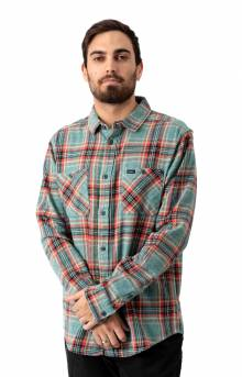 Mazzy Plaid Button-Up Flannel Shirt - Alpine