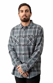 Mazzy Plaid Button-Up Flannel Shirt - Black