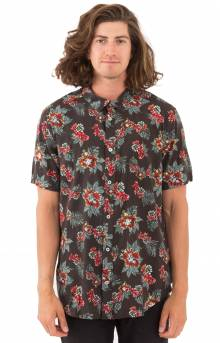 McMillian Floral S/S Button-Up Shirt - Black