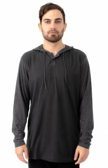 Pick Up L/S Hooded Knit Shirt - Pirate Black